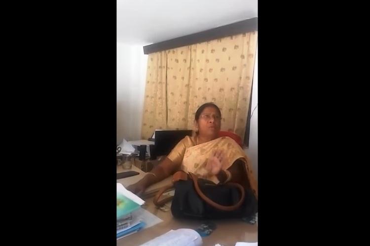 Hyderabad school principal caught on tape demanding bribe video goes viral