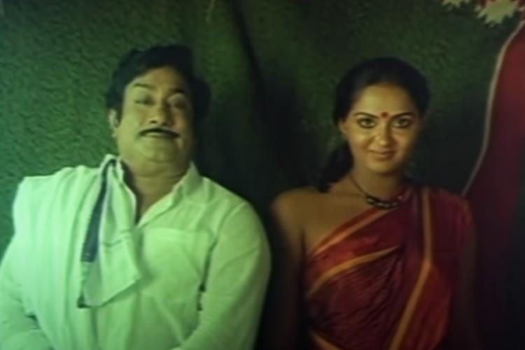 The 1985 film Muthal Mariyathai stars Sivaji Ganesan and Radha in the lead roles