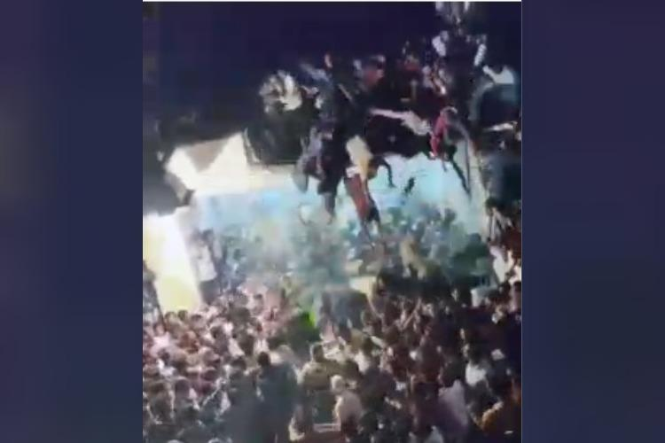 Video Portion of roof collapses in Andhra during Muharram procession 20 injured