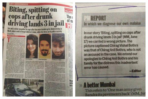 Mumbai Mirror slammed for using wrong image for story on drunk youngsters spitting on cops