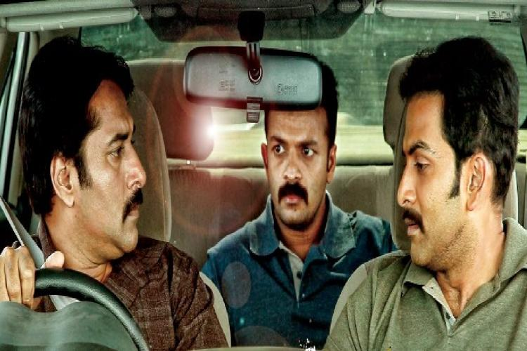 Prithviraj Sukumaran Jayasurya and Rahman seen inside a car in the photo