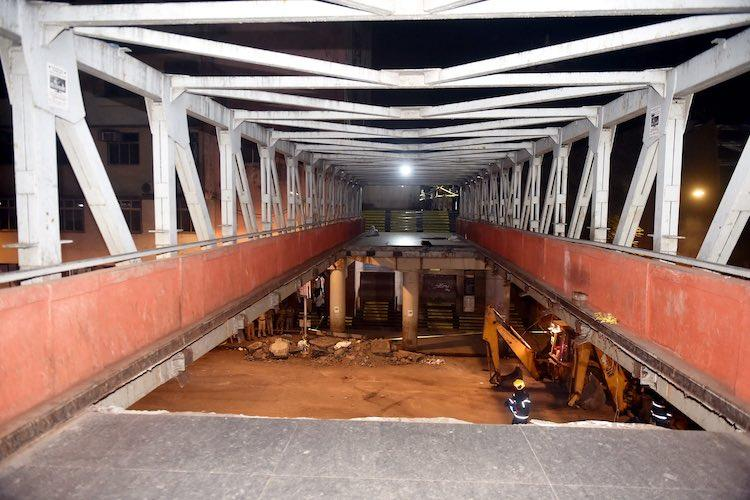 Foot overbridge collapses near Mumbais CSMT station 5 killed