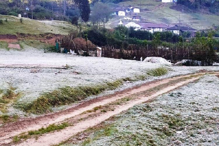 Munnar sees delayed winter hill town experiences sub-zero temperatures a week late