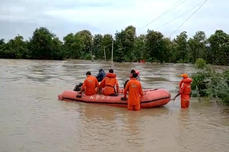 NDRF team in rescue opration