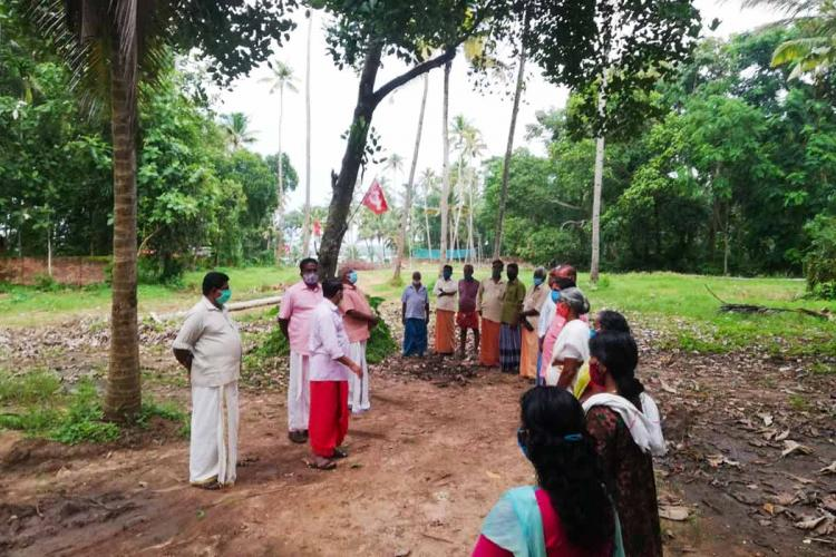 Munroe Island CPIM protest over a land