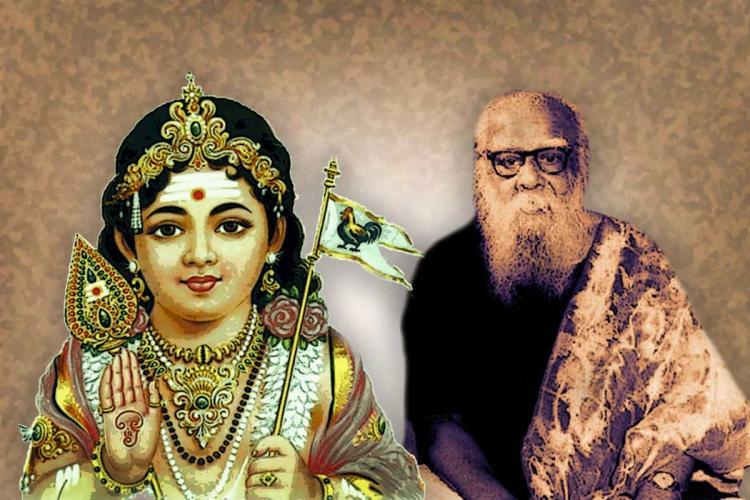 Hindu god Murugan or Kandhan and rationalist Periyar