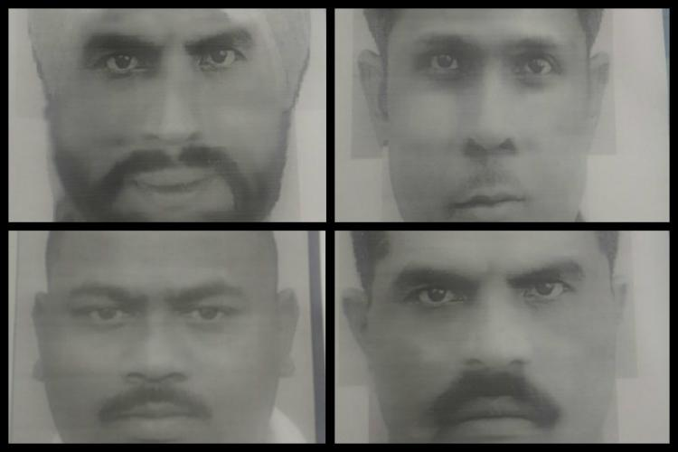 Cyberabad police release sketches of armed robbers who looted 40kg gold from Muthoot Finance