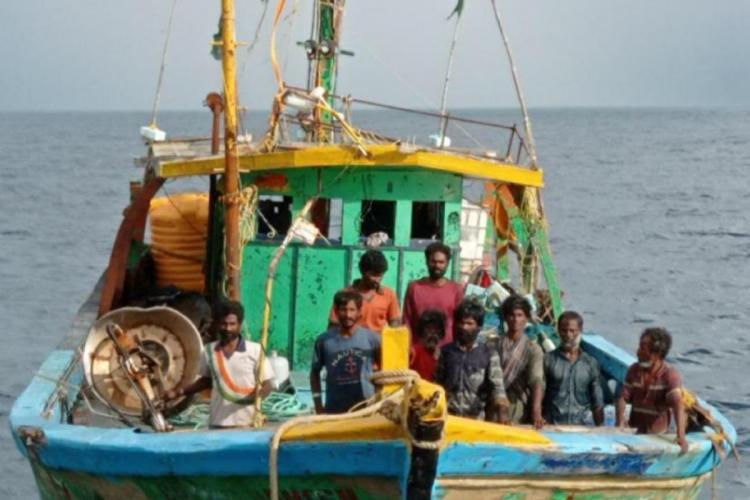 The nine fishermen who were stuck in the Bay of Bengal