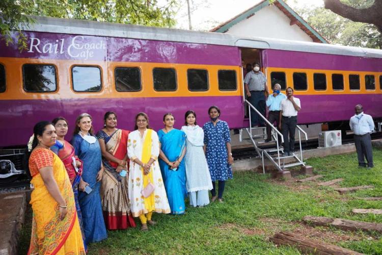Train coach turned into cafeteria in Mysurus Railway Museum
