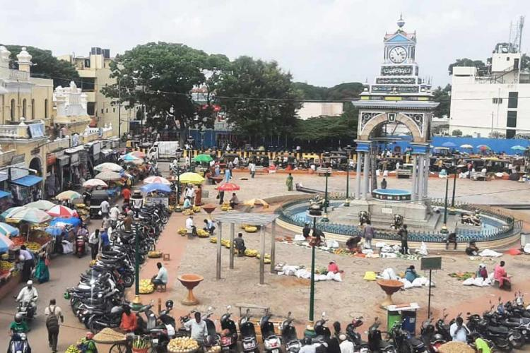 Mysuru officials shut down key market areas for 4 days as COVID-19 cases rise