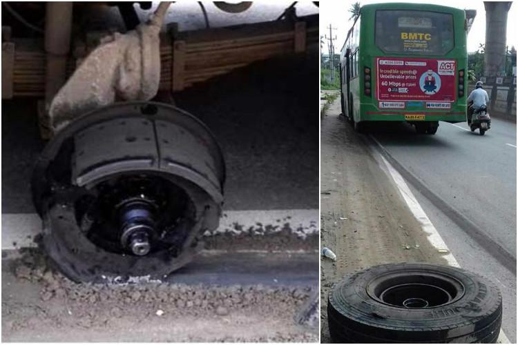 Bengaluru bus loses wheel while passengers on board second accident in less than a month