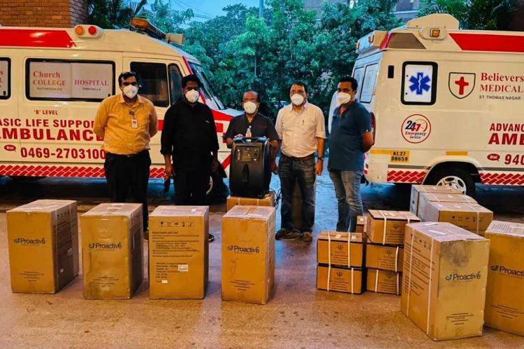 The consignment from the US which reached Believers Hospital in Kerala