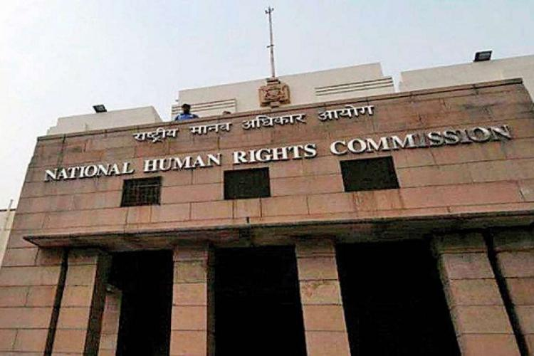A view of the National Human Rights Commission building in New Delhi