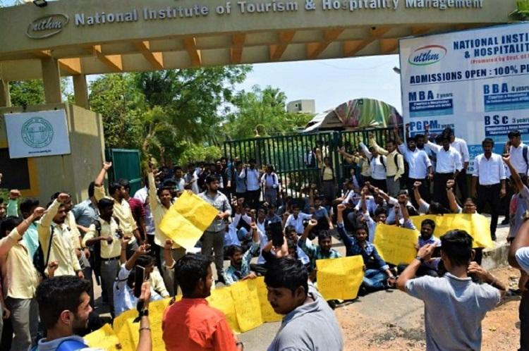 Threatened and harassed Hyd NITHM students demand institute director be sacked