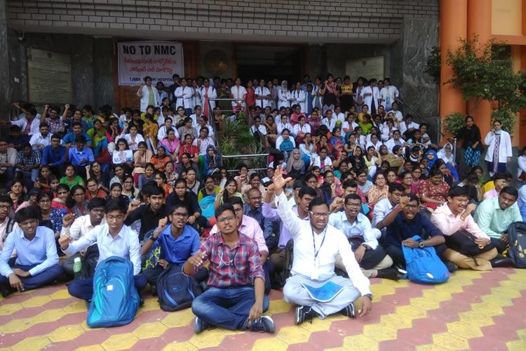 Doctors strike against NMC Bill affects healthcare services in Andhra Telangana