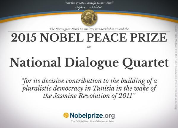 Quiet quartet wins Nobel Peace Prize for laying a democratic path despite troubles in Tunisia