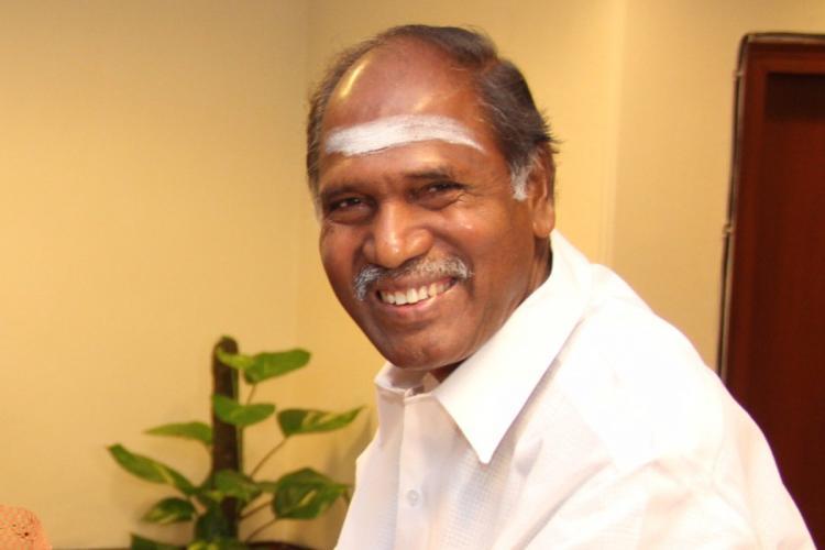 Former Puducherry Chief Minister and AINRC chief N Rangasamy
