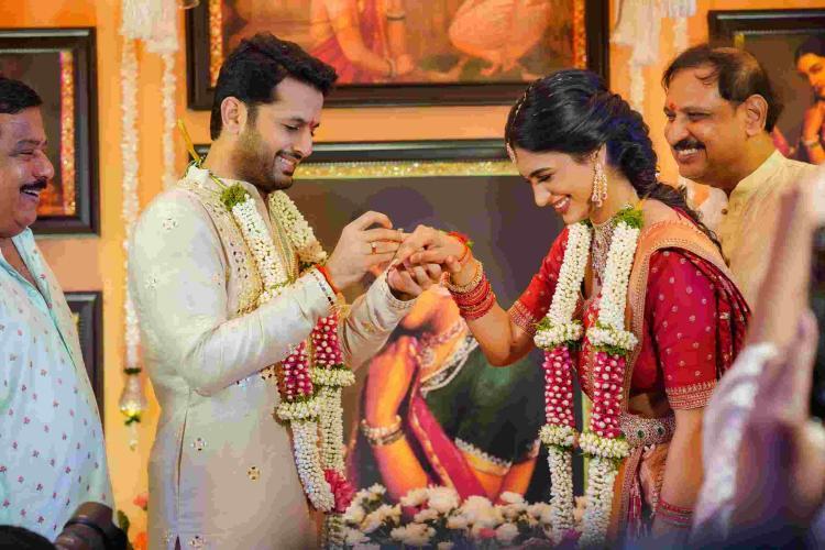 Ahead of lockdown wedding, Nithiin gets engaged to fiancé Shalini in Hyderabad