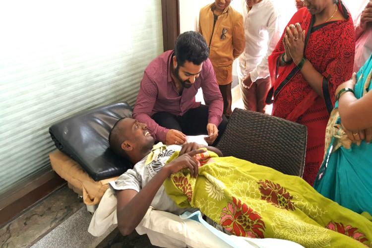 Bengaluru cancer patient gets last wish fulfilled meets Junior NTR