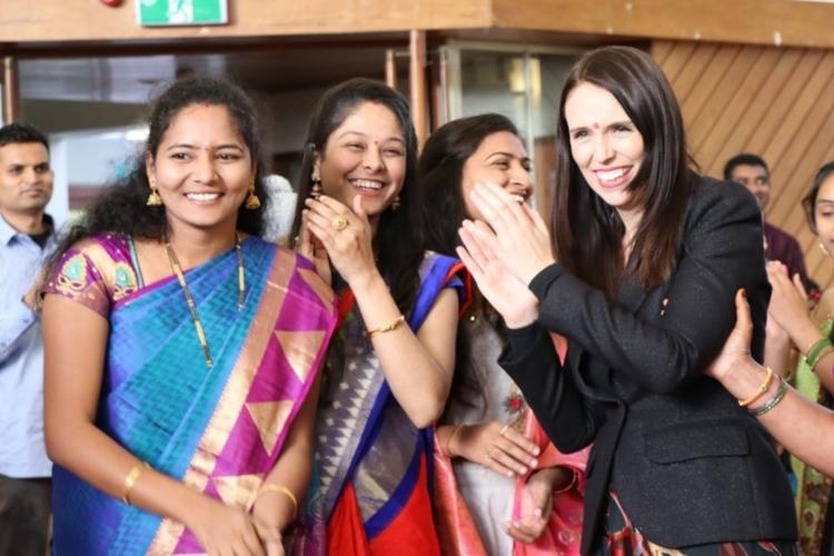 New Zealand PM Jacinda Ardern celebrates Bathukamma festival KTR thanks her