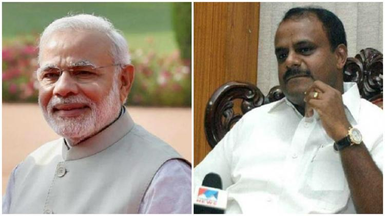 Kumaraswamy responds to PM Modis fitness challenge Support me to keep state fit