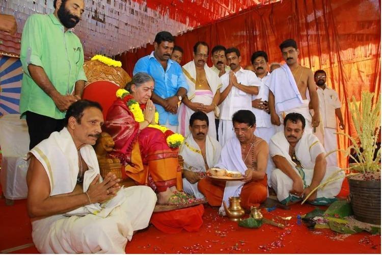 Worshipping real women not goddesses Kerala temples annual Naari Puja