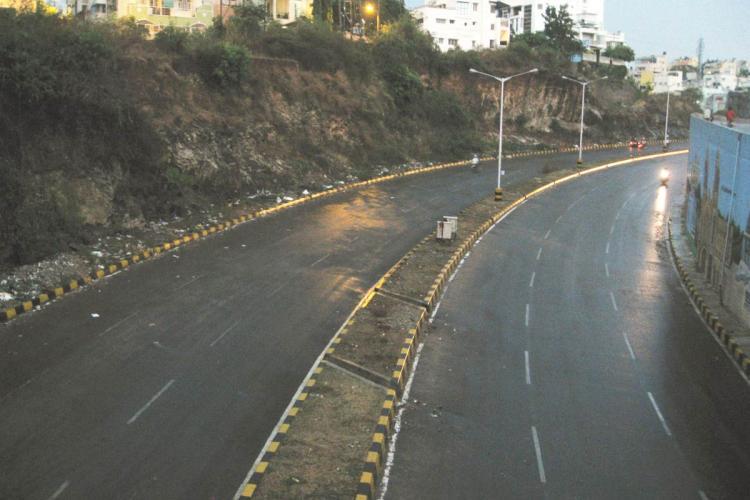 Outer Ring Road in Nagarbhavi, Bengaluru