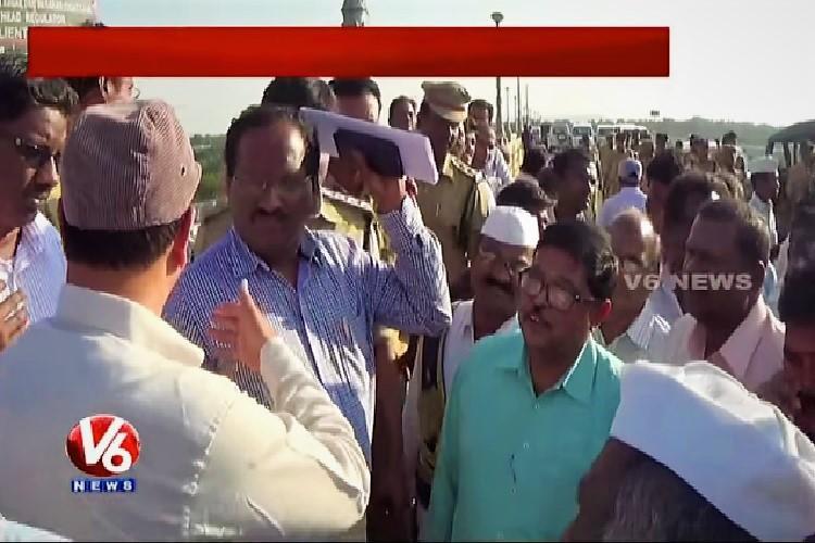 Telangana-Andhra water sharing dispute escalates as officials clash at Nagarjuna Sagar