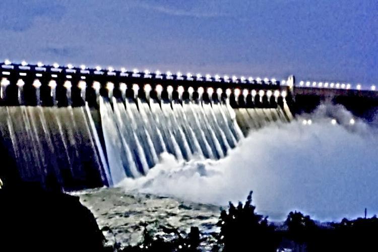 Nagarjuna Sagar reservoir Section 144 Nalgonda Suryapet Warangal floods Sirsailam project heavy inflow