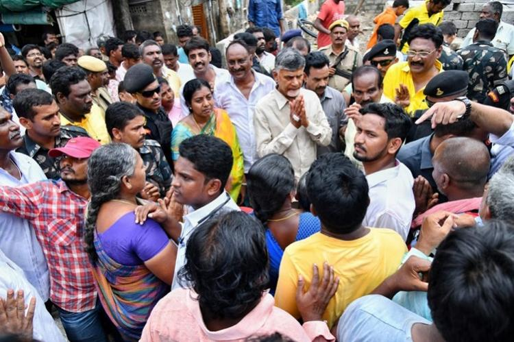 Krishna floods man-made state failed to provide relief Chandrababu Naidu