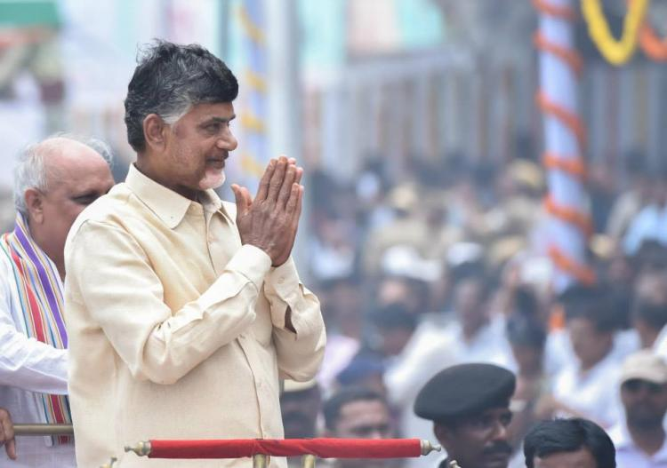 Image result for Chandrababu fights lone battle against BJP