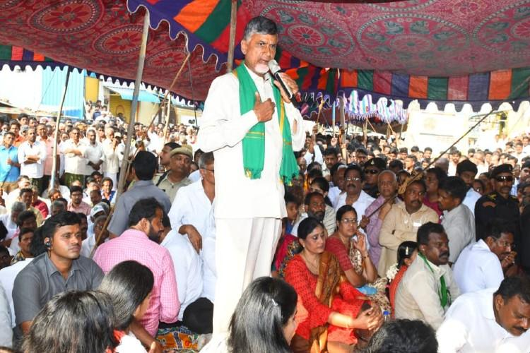 No logic in having 3 capitals Chandrababu Naidu interview on Andhra capital row
