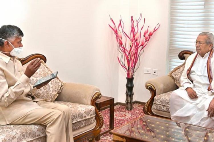 Chandrababu Naidu meets with the Andhra Pradesh Governor