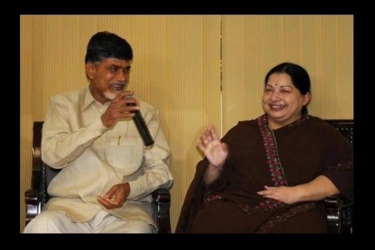 Andhra CM Naidu holds prayers for Jayalalithaa sends prasadam from Tirumala