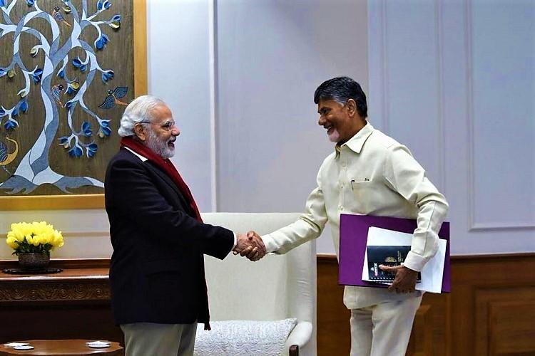 Andhra CM Naidu meets PM Modi urges Centre to fulfil commitments