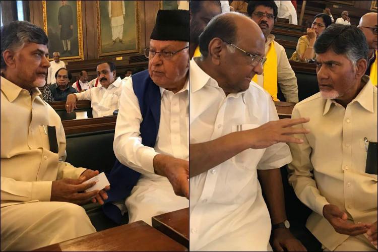 Andhra CM Naidu visits Parliament meets senior MPs in Delhi over special status
