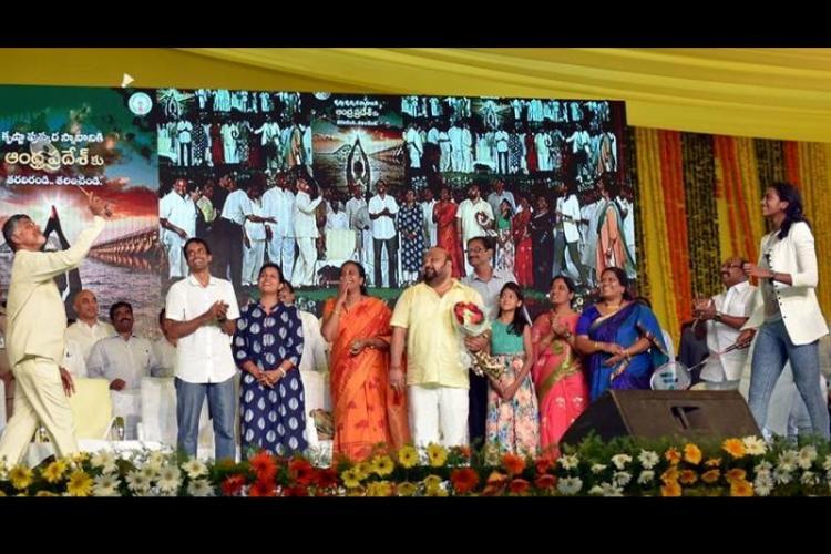 Video Watch Andhra CM Naidu play badminton with P V Sindhu