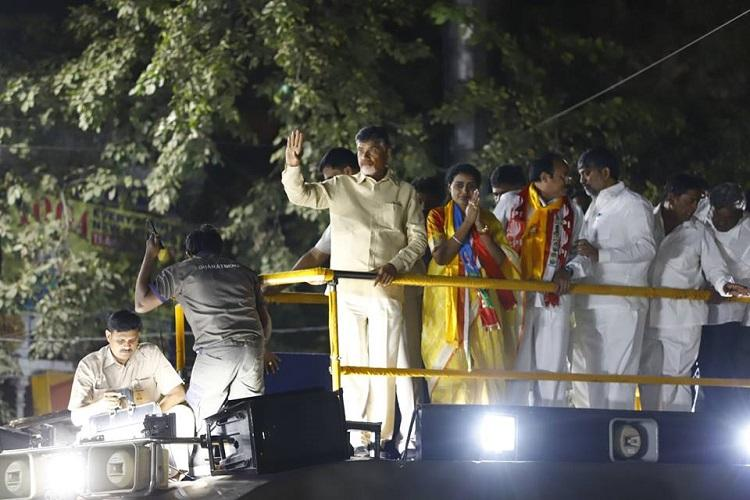 KCR is junior Modi TDP chief Naidu campaigns for NTRs granddaughter in Hyd