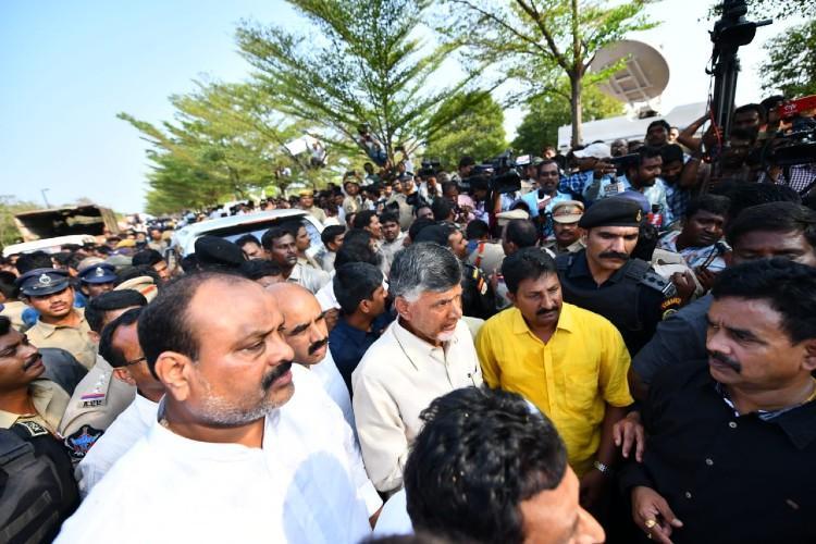 Chandrababu Naidu placed under preventive detention at Vizag airport