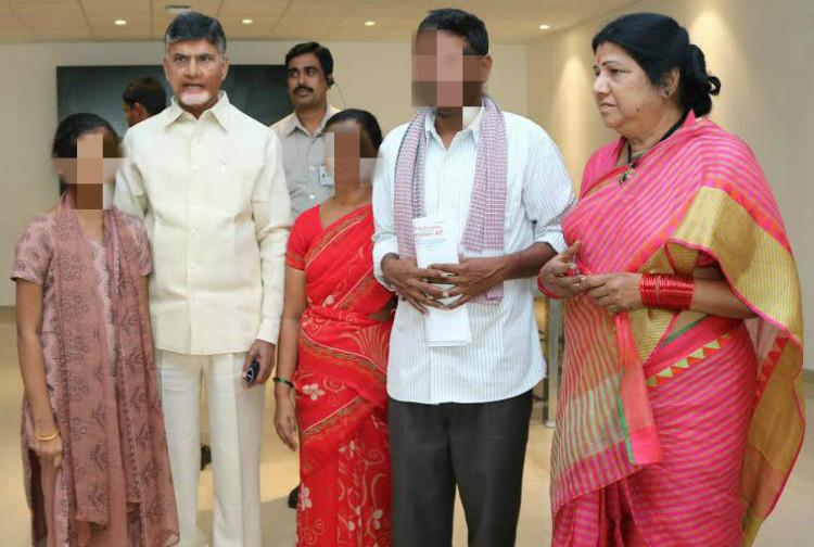 AP Chief Minister breaks law Posts photo with 13-year-old alleged sexual abuse survivor