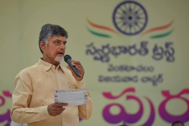 Naidu turns teacher Gives students a lesson on moral values