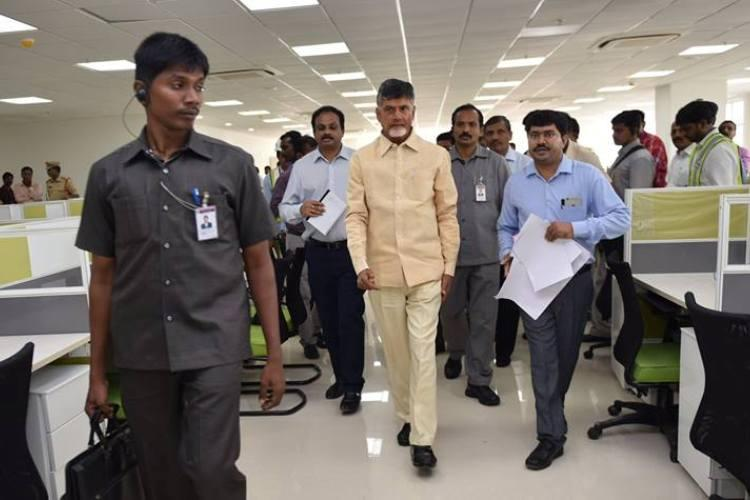 Two months after inauguration Naidu begins work from new office in Velagapudi secretariat