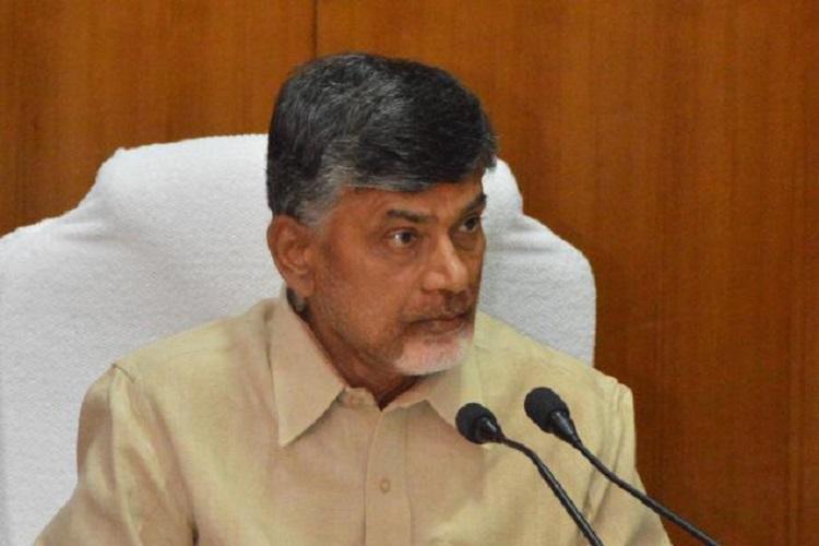 Naidu receives four models for govt buildings in Amaravati to seek public advice