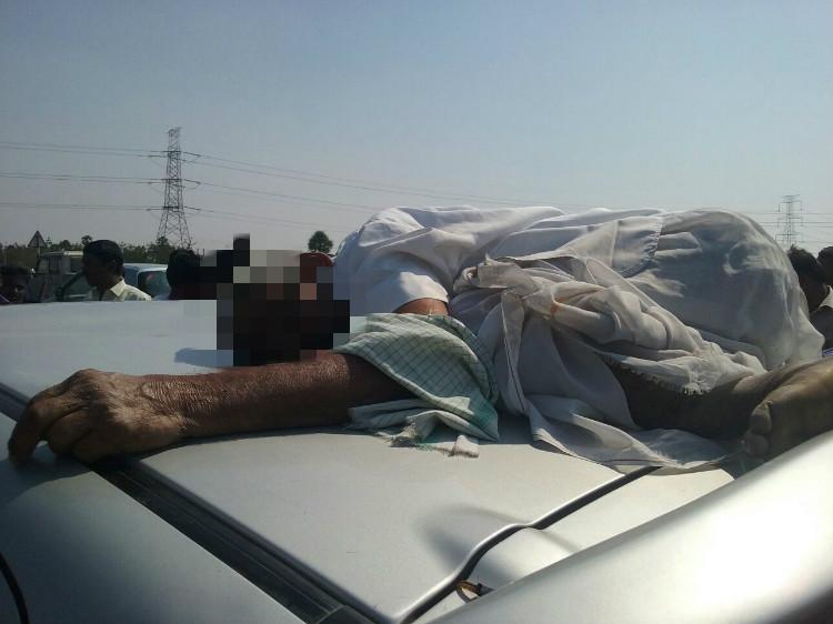 Unaware Hyderabad men drive 20 km with body of dead farmer on car roof