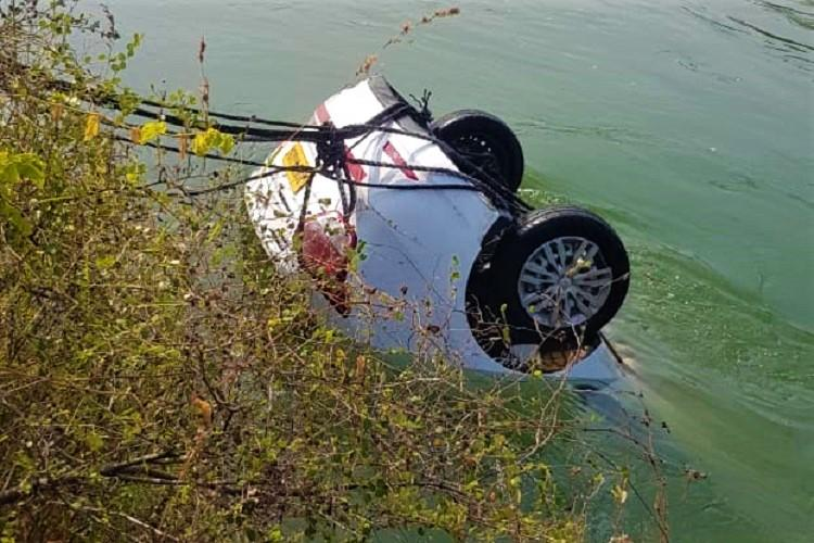 Three of family die after car plunges into canal in Telangana