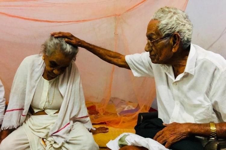 A 1946 love story After 72 years of separation 90-year-old man meets first wife