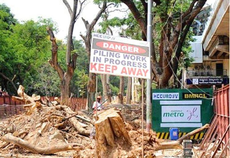1253 trees chopped for Bengaluru Metro Ph-2 activists say expert panel not consulted