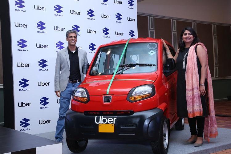 Uber ties up with Bajaj Auto to launch CNG-run passenger vehicle in Bengaluru