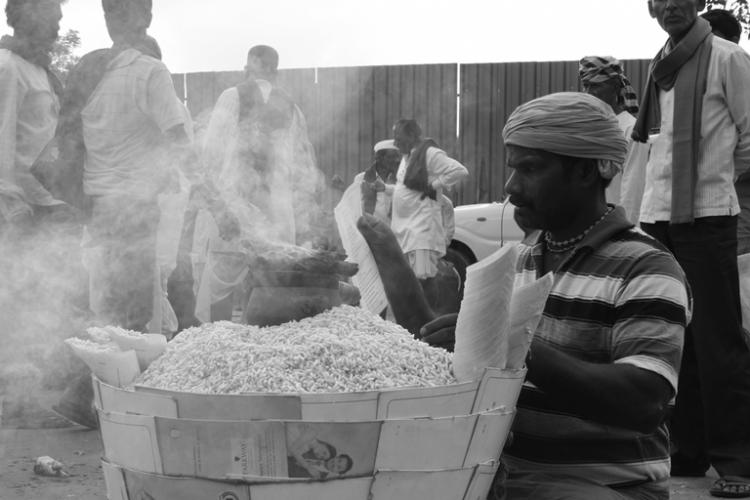 Marking attendance at protests across Bengaluru the story of a puffed rice seller