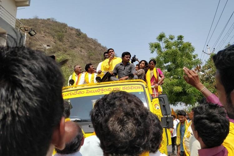Ground report In Mangalagiri Nara Lokesh seeks votes for fathers dream Amaravati
